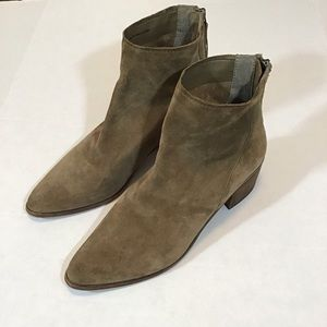 Tan Suede Dolce Vita Cassius Ankle Bootie.